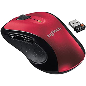Logitech M510  Wireless Mouse, Red,  910-004554
