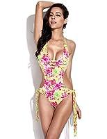 RELLECIGA Women's Fringe Monokini Straps One Piece Swimsuit