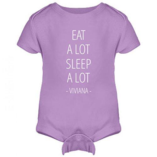 Baby Viviana Eat A Lot Sleep A Lot: Infant Rabbit Skins Lap Shoulder Creeper