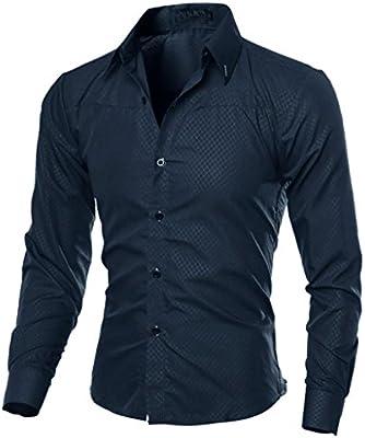 Hombre Camisa Slim Fit Modello STRIR Camisa algodon Hombre, Manga Larga, Slim Fit, Camisa Elástica Casual/Formal para Hombre (Azul-marino, XXXL): Amazon.es: Hogar