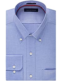 Mens Dress Shirts Non Iron Regular Fit Solid Button Down Collar