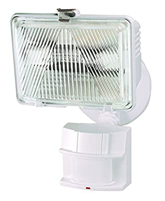 Heath Zenith HZ-5525-WH 250-watt Quartz Motion-Sensing Light, White