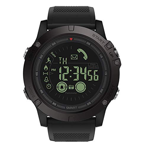 (T1 Tact Military Grade Super Tough Smart Watch Outdoor Sports Talking Watch Mens Digital Sports Watch Waterproof Outdoor Pedometer Calorie Counter Multifunction Bluetooth Smart Watch (Black))