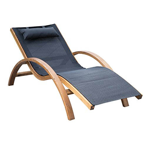 outsunny-outdoor-mesh-lounger-with-cushion-black