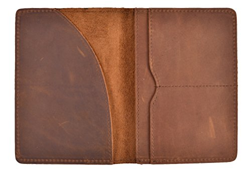 Holder Leather Passport - Yeeasy Passport Holder Wallet Cover Passport Case Genuine Crazy Horse Leather (Brown (Crazy Horse Leather))