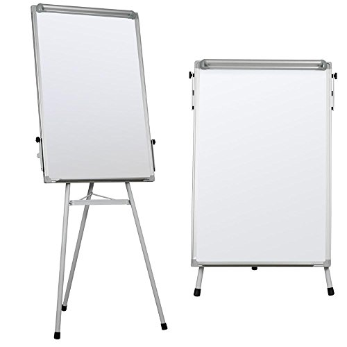 Yaheetech Portable Dry Erase Easel Magnetic White Board Dry Erase Board Tripod Whiteboard Flipchart Easel Height Adjustable for Office/Home/School Use with 1 Eraser,3 Magnets(36x24 inches) -