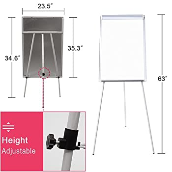 Easel White Board - Magnetic Tripod Whiteboard 