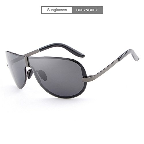 gris Gafas polarized RFVBNM hombres Fashion Classic de tendencia marco Shing sin gafas gray sol de sol Gafas personalidad sol de fOqpOrdwU