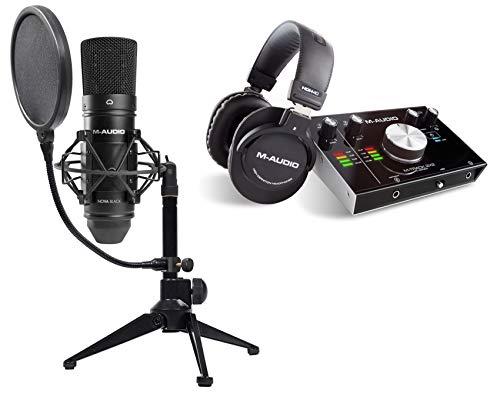 M-Audio M-TRACK 2x2 Vocal Studio Pro w/Headphones+Interface+Mic+Stand+Pop ()