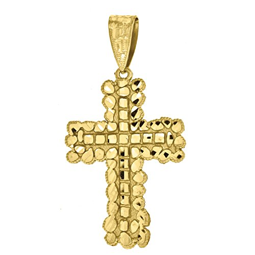 14kt Yellow Gold Nugget Cross - 8