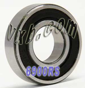 6900-2RS Sealed 10x22x6 10mm//22mm//6mm 6900RS Deep Groove Radial Ball Bearings