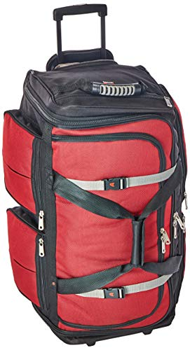 Athalon Luggage 29 Inch 15 Pocket Duffel, Red/Black, One Size