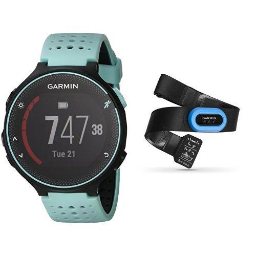 Amazon Com Garmin Forerunner 235 Frost Blue And Hrm Tri Heart