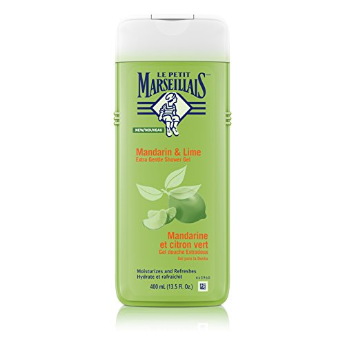 Le Petit Marseillais Extra Gentle Shower Gel with Mandarin & Lime, Moisturizing & Refreshing French Body Wash for pH Neutral for Skin, 13.5 fl. (Mandarin Moisturizing Cleanser)
