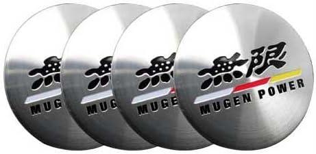 56mm Dia Car Wheel Sticker Hub Caps Centre Cover Tiger Head Pattern 4pcs