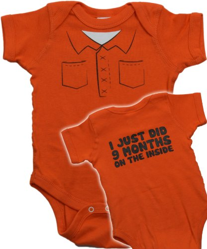 "Ann Arbor T-shirt Co. Unisex Baby ""Just did 9 months on the Inside"" One Piece"