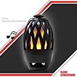 Onbio USB Charging Portable TF Card Flame LED Lamp Wireless Bluetooth Speaker Table Lamps