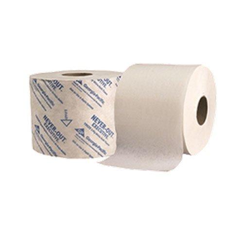 Georgia 19029 Neverout Executive Toilet Tissue 2-ply Hi Capacity 4x4.05 White
