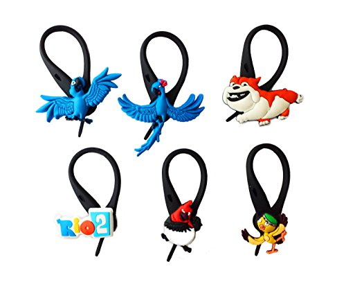 Child Blue Macaw Costume (AVIRGO 6 pcs Soft Zipper Pull Charms for Backpack Bag Pendant Jacket Set # 93-3)