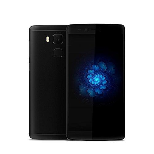 Original Vernee Apollo X K558W Deca Core Android 6.0 Mobile Phone 5.5 Inch Fingerprint Cell Phone 4G RAM 64G ROM Smartphone(Black)