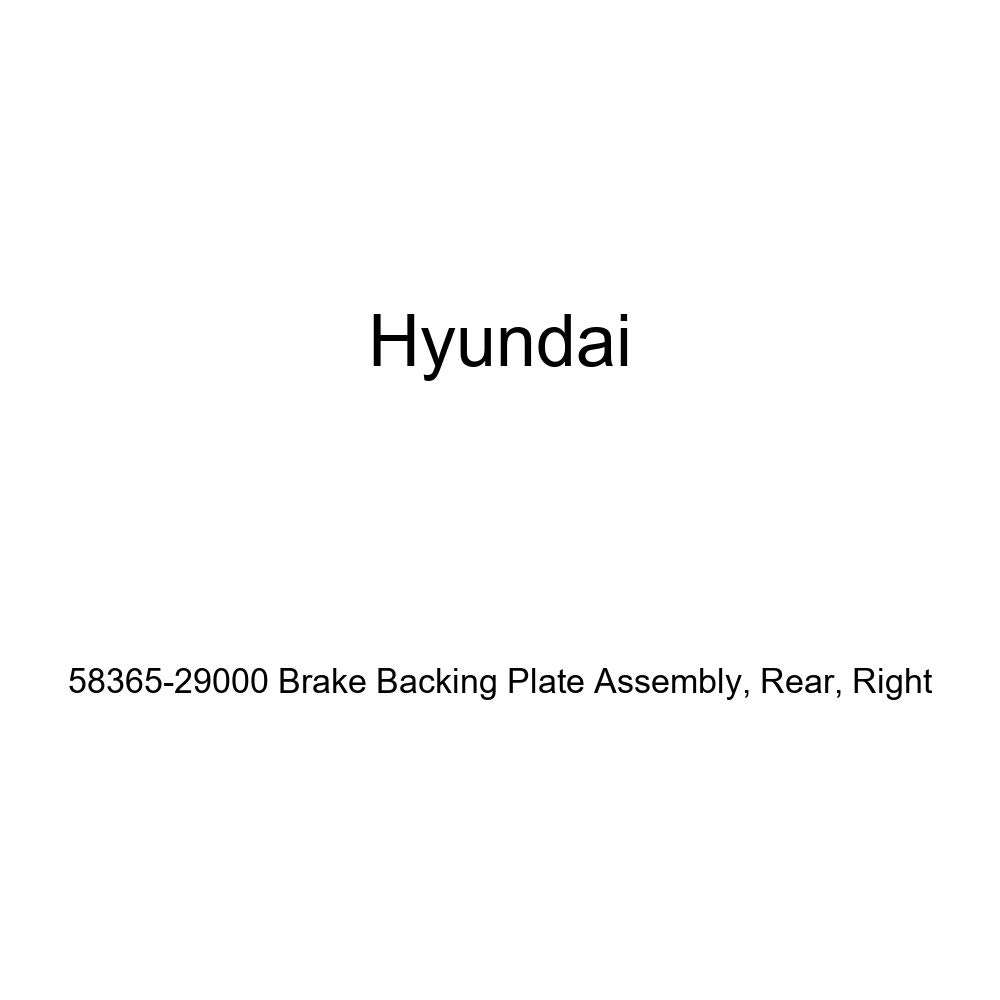 Right Rear Genuine Hyundai 58365-29000 Brake Backing Plate Assembly
