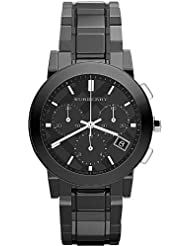 Burberry Chronograph Black Dial Black Ceramic Mens Watch BU9081