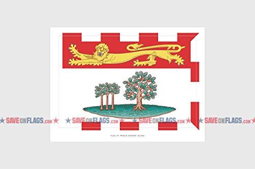 Prince Edward Island Flag Sticker, Weatherproof Vinyl PEI Flag Stickers