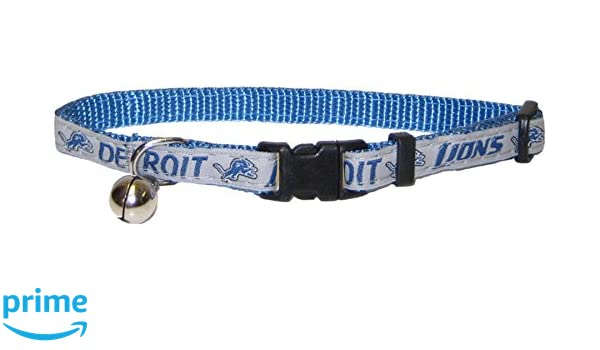 Amazon.com   Pets First NFL CAT Collar. - Detroit Lions CAT Collar. -  Strong   Adjustable Football Cat Collars with Metal Jingle Bell   Pet  Supplies 757c7fe2f