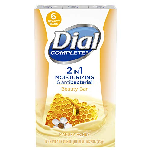 Dial Complete 2 in 1 Moisturizing & Antibacterial Beauty Bar, Manuka Honey, 3.8 Ounce, 6 Bars from Dial