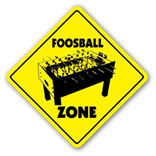 (Funny Sign Gift Foosball Zone Sign Game Room Table Soccer Gift Outdoor Metal Aluminum Sign Wall Plaque Decoration)