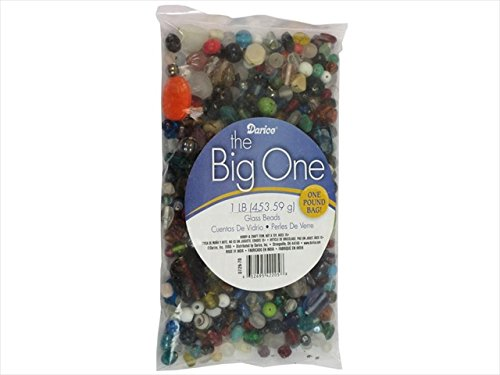 Jewelry Designer 0726-70 Assorted Glass Bead Pound Bag, Multicolor 100 Each (Mixed Glass Beads)
