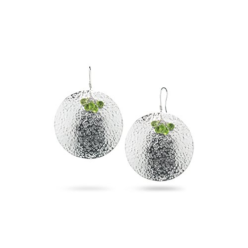 3.00-4.50 Cts Peridot Earrings in Sterling Silver - Valentine's Day Sale