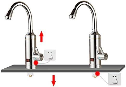 Fu Man Li Business 電気蛇口の迅速な熱い加熱のキッチンの迅速な給湯器の電気蛇口 A+ (色 : シルバー しるば゜)