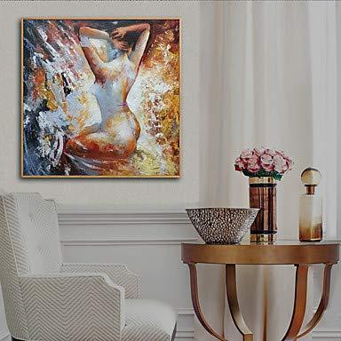 quadri astratti della gente di arte dipinti a mano pittura decorazioni per ufficio a casa su tela pittura di arte della parete 24x24 pollici Pittura a olio delle donne nude su tela