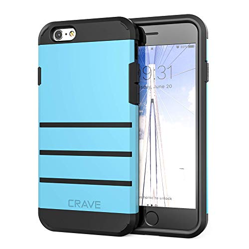 Crave iPhone 6S Plus Case, iPhone 6 Plus Case, Strong Guard Protection Series Case for iPhone 6 / 6s Plus (5.5 Inch) - Sky Blue