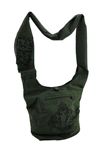 Ganesh Cotton Crossbody Bag Hindu Elephant qBAqvw