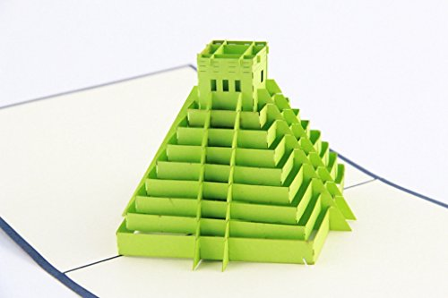 IShareCards Handmade Pop Up 3D Thank You Greeting Cards World Famous Buildings (Mayan Pyramids)