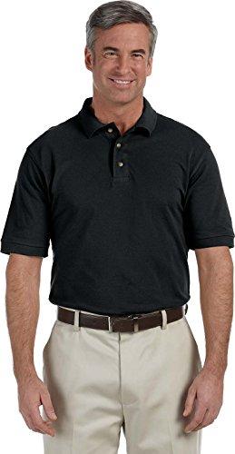 Harriton Herren Poloshirt Gr. S, Schwarz