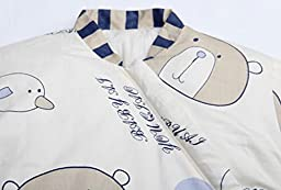 Nine States Winter Thicker Baby Sleeping Bag or Sack Long Sleeves Wearable Blanket (Large/12-36 Months)