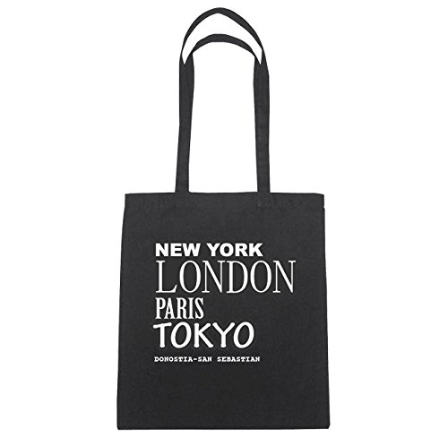 Donostia York Sebastian Schwarz Di Cotone B3569 Borsa Paris San Hände Natur Jollify New London Herz Tokyo 7Hdt7