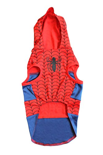 Marvel Spiderman Costume For Dogs, Small | Best Superhero Halloween Costume For All Small Dogs and Puppies -