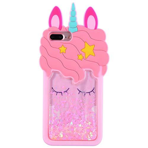 FunTeens Bling Unicorn Case for iPhone 8 Plus/7 Plus /6s /6 Plus 5.5