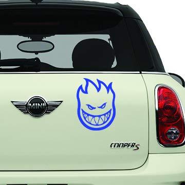 (Spitfire Wheels Blue SK8/Surf/Snow/Water/Bike/Brands Automotive Decal/Bumper Sticker)