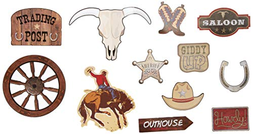 Amscan 190640 Western Value Cutouts, 11