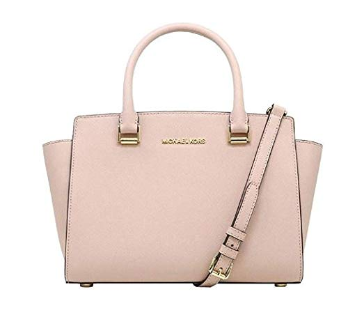 Michael Kors Women's Selma Medium Top Zip Satchel (Ballet)