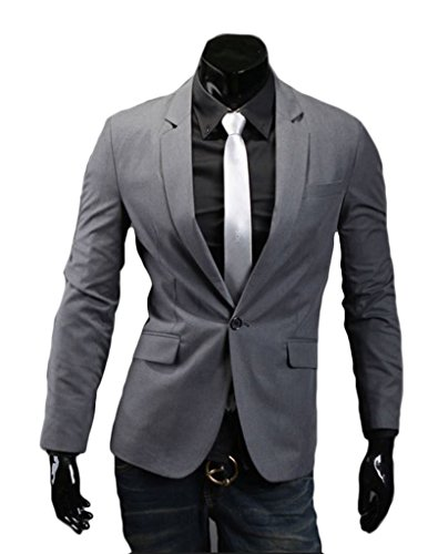 HeSaid Mens Slim Fashion Sport Blazer Jacket