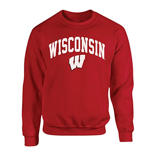 Elite Fan Shop Wisconsin Badgers Crewneck Sweatshirt - 2XL - ()