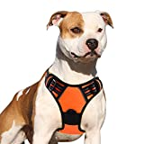 Front Range Large Dog Harness No Pull Adjustable Protective Vest Harness Step-in Oxford