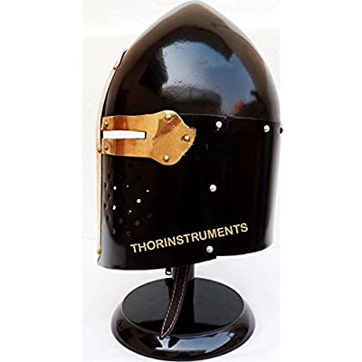 Medieval SugarLoaf Spartan Helmet Roman Helmet Knight Ancient Armor with Stand : Sports & Outdoors