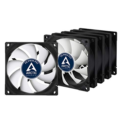 Arctic F8 PWM PST Value Pack (5 Units) - 80 mm PWM PST Case Fan - Five Pack, Silent Cooler with Standard Case, PST-Port (PWM Sharing Technology), Regulates RPM in Sync
